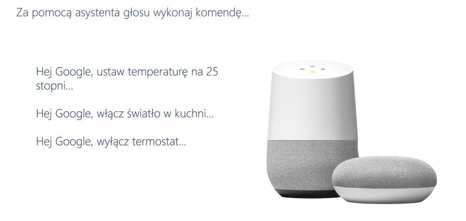 Salus Controls i Google Home przykładowe instrukcje